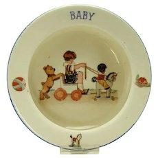 Golliwog Baby Plate - Czechoslovakian