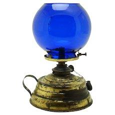 Brass and Cobalt Blue Cigar Lighter - 1890's