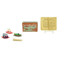 Celluloid Magic Boats Toys - Mint in Box with Instructions