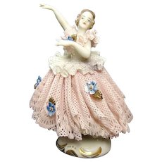 German Ballerina Porcelain Figure - 1910