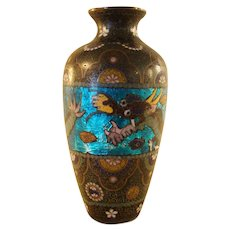Japanese Cloisonné Vase with Dragon - 1880's