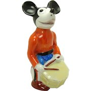 Mickey Mouse Drum Player Porcelain Figurine