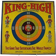 King High Lithographed Marble Game