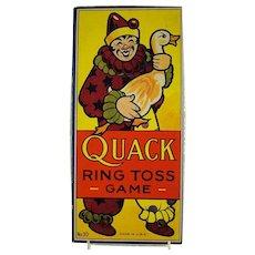 Quack Ring Toss Game - 1930's