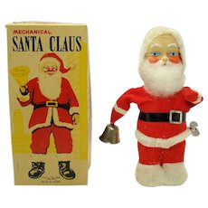 Mechanical Santa Claus Wind-up Toy by Alps - Mint in Box