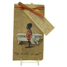 Unusual Black Memorabilia Paper Soap Sheets Booklet