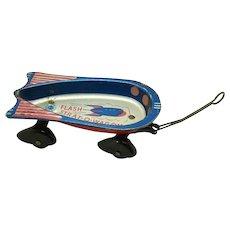 Wyandotte Tin Flash Strat-o-Wagon Toy