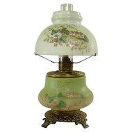 Rare Trenton Junior Gone with The Wind Kerosene Lamp - 1880's