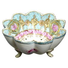 Hand-painted Porcelain Berry Bowl with Sieve
