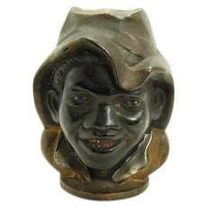Two-Faced Cast Iron Black Boy Bank - Black Memorabilia