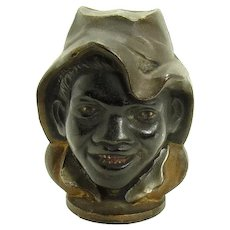 Double-sided Cast Iron Black Boy Bank - Black Memorabilia