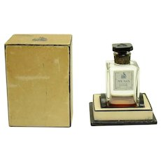 """French Perfume Bottle with Cut Cameo Stopper - Paris, France - """"My Sin"""""""