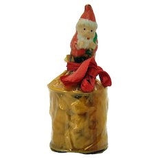Bisque Candy Container Depicting Santa Claus - 1920's