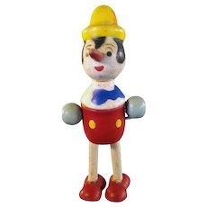 Pinocchio Jointed Wood Figurine Geo. Borgfelt Corp. - 1920's