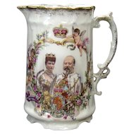 King Edward VII and Queen Alexandria 1902 Coronation Pitcher -  Austrian