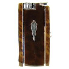 Early Ronson Pal Enameled Cigarette Holder and Lighter Combination