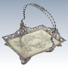 Silver Plated Basket with Handle - c. 1880's