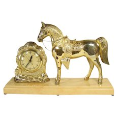 United Clock with Horse and Cowboy Theme - 1950's