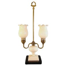 Jefferson Double Arm Electric Student Lamp - 1920's