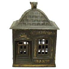 Cast Iron Home Savings Bank by J. & E. Stevens - 1895