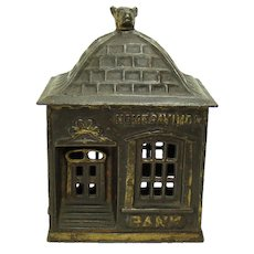 Cast Iron Home Savings Bank by J. & E. Stevens - 1895