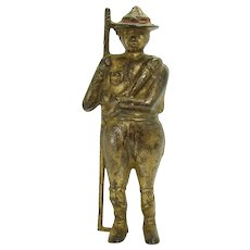 Cast Iron Boy Scout Bank by A. C. Williams
