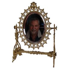 Ornate Swiveling Jewelry Store Counter-top Mirror - 1880's