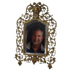 Solid Bronze Table Top Mirror with Bacchus Head - 1880's
