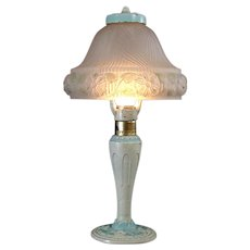 Aladdin Boudoir Lamp with Satin Glass Shade - All Original