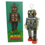Japanese Robot Mechanical Walking Spaceman Wind-up Toy - Mint in Box