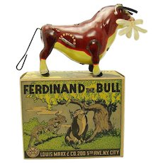 Marx Ferdinand The Bull Tin Wind-up Toy - Mint in Box