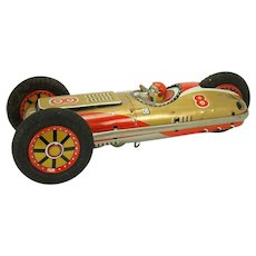 Three-Wheel Flipping Tin Racer Toy - 1950's - Near Mint