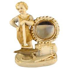 Victorian German Porcelain Figural Blacksmith Watch Holder