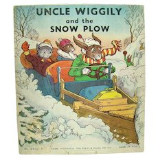 Uncle Wiggly and The Snow Plow Children's Book - 1939