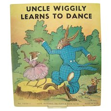 Uncle Wiggly Learns To Dance Childrens Book - 1939