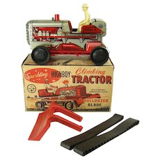Marx Sparkling Highboy Climbing Tractor Wind-up Toy - Mint in Box