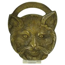 Solid Cast Brass Odin Stove Manufacturers Cat Head Pin Tray - Erie, PA - 1910