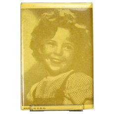 Shirley Temple Celluloid Pocket Mirror - 1930's - Mint