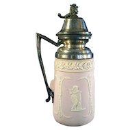 Pink Jasper Ware Syrup Pitcher - 1880's