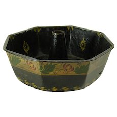 Early Toleware Octagonal Bunt Cake Pan - 1870's