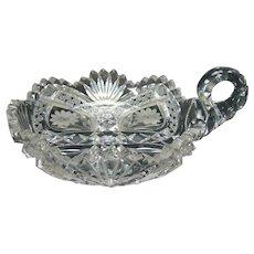American Brilliant Cut Glass Nappy - 1890's