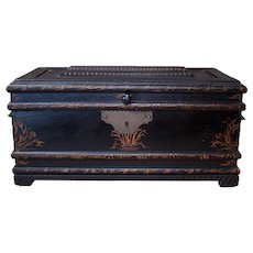 Folk Art Treasure Chest with Inner Box - 1870's