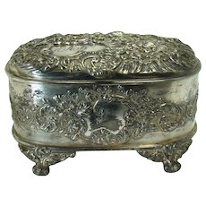 Pairpoint Silver Plated Jewel Casket - 1890's