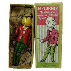 Mr. Turnip Leaded Puppet Toy - Near Mint in Box