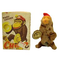 Chimp with Cymbals Tin Wind-up Toy - Mint in Box