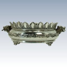 Pairpoint Silver Plated Candy Dish with Wolf Heads - 1890's