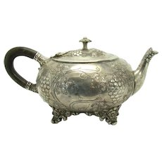 Early Hand-made Repoussé Teapot - 1870's