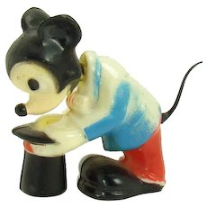 Disney Hard Plastic Mickey The Magician Nodder - 1960's