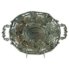Silver Plated Embossed Repoussé Fruit Dish  - 1870's