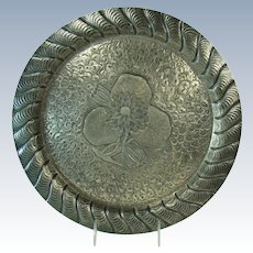 Beautiful Meriden Silver Plated Hand-Chased Serving Tray - 1880's